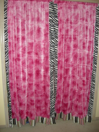 Diva Paris zebra room, Took off the closet doors and gave her some fuzzy curtains for hiding behind, Girls' Rooms Design