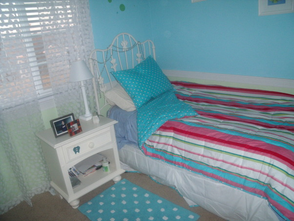 "fun in polka dots and stripes!, my daughter wanted more of a ""teenager"" room(shes almost 13). the perfect combination of bold colors with white accents...she loved it!, Bedrooms Design"