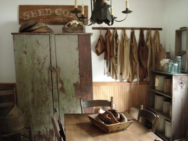 Primitive Kitchen, Early 1800's Primitive Kitchen., Kitchens Design