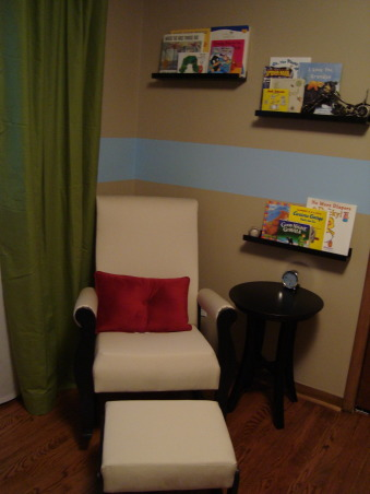 Modern Baby Boy's Room, We tried to create a space that was modern and still baby boy-ish.  We are very happy with the results and hope someone can find some inspiration from our space.  I used this site for many ideas!, We've added his books to the book ledges!, Nurseries Design