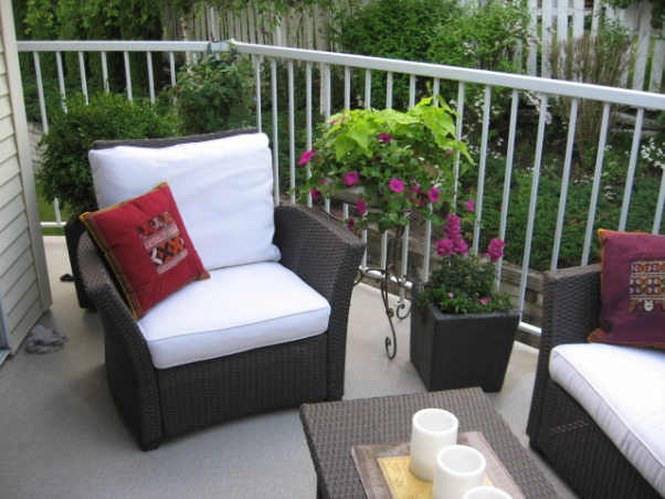 Tiny Townhouse Patio, Gave our small townhouse patio a cozy feel...., Patios & Decks Design