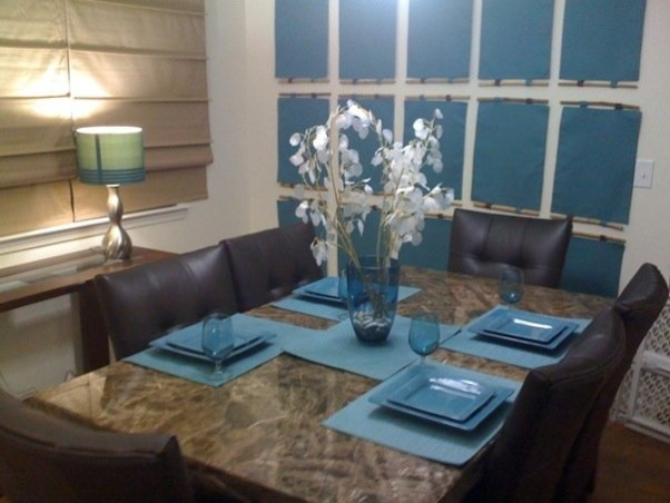 Information about rate my space hgtv for Teal dining room ideas