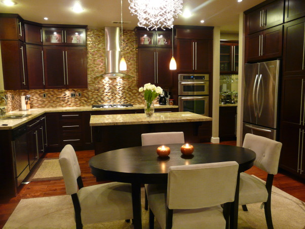 contemporary kitchen, contemporary , clean ,warm and chic, labor of love, Kitchens Design