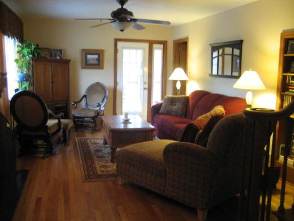 Cape Cod living room, Our living room after carpet removed, hardwood ...