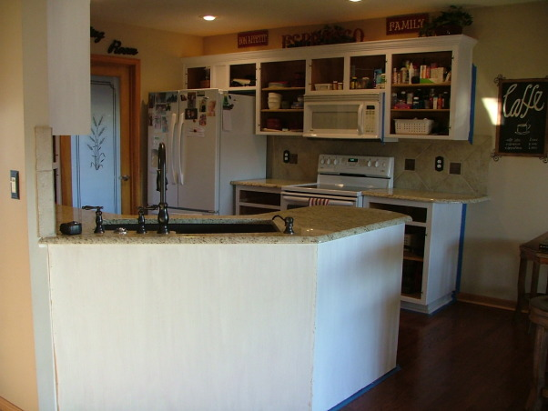 Our New Cream Glazed Kitchen!!!, Glazed cabinets cream cabinets oil rubbed bronze granite, Cabinets primed  , Kitchens Design