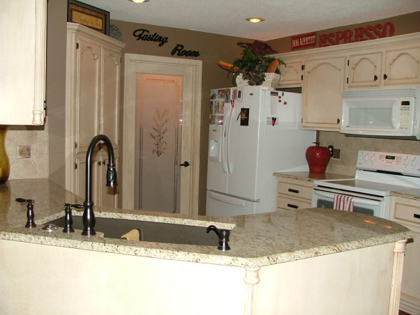 Our New Cream Glazed Kitchen!!!, Glazed cabinets cream cabinets oil rubbed bronze granite, After  , Kitchens Design