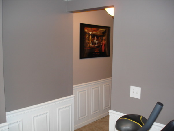 Exercise and Pool Room, Exercise and Pool Room, Door way to exercise room, Basements Design