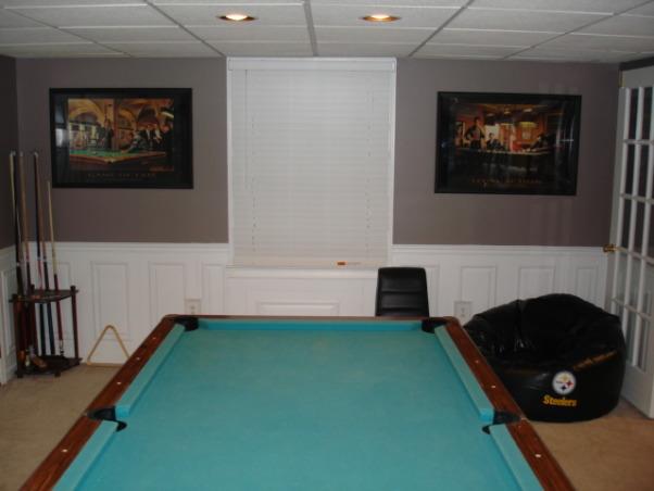 Exercise and Pool Room, Exercise and Pool Room, Pool room, Basements Design
