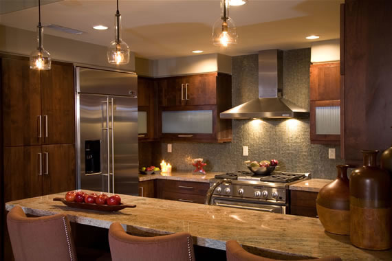 Warm Kitchen w/earth tones, Smaller Kitchen with big style and matching decor. Good use of tile though out., Clean simple lines for a great Kitchen., Kitchens Design