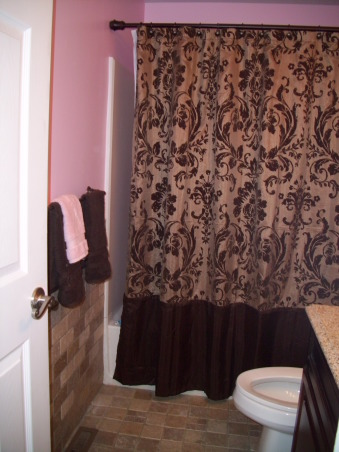 Information about rate my space questions for for Pink brown bathroom ideas