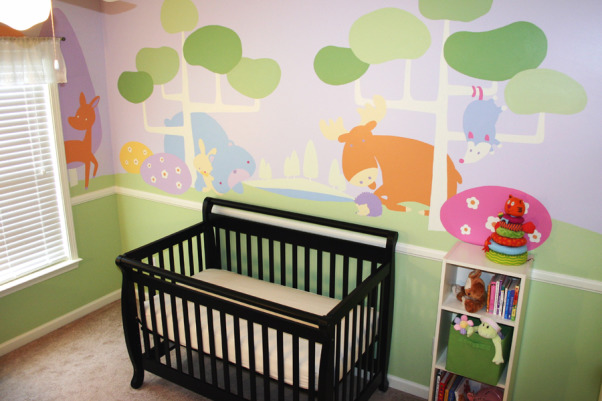 Northwoods Nursery, Fun and Funky girl's nursery, with just enough sugar and spice to sweeten a baby girl's day. , Inviting place for sleepytime! , Nurseries Design
