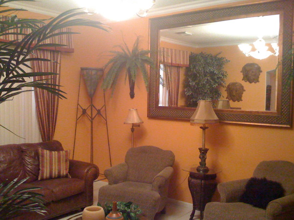 Jungle theme living room gone wild, king of the Jungle, Living bang bang wild theme, Living Rooms Design