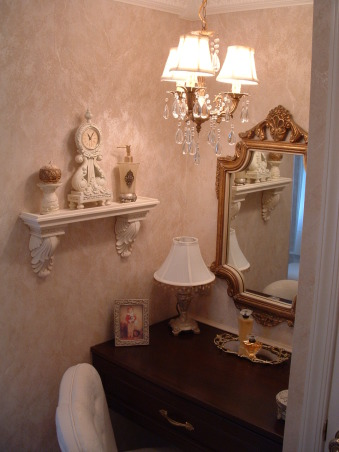 Before & After Bath Cosmetic redo, I went from a more dated country look to a more elegant bath.  Being the only bathroom in the house I wanted it to look nice. How did I do?, Bathrooms Design