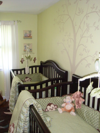 Twin Boys' Nursery, We couldn't be more excited about the arrival of our twin boys in July 2009, so we got started on their nursery early.  We hope they love it as much as we do!, Nurseries Design