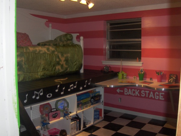 Rock Star, This is my nieces very small bedroom. That my family just completely redid over the Memorial Day weekend. , Girls' Rooms Design