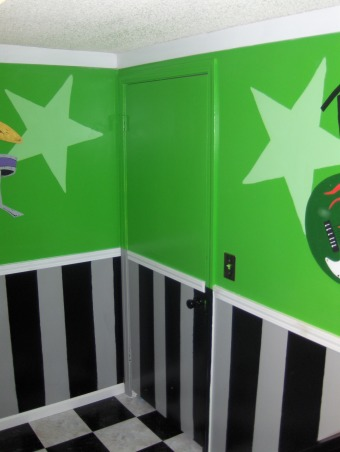 Rock Star, This is my nieces very small bedroom. That my family just completely redid over the Memorial Day weekend. , This is the door to the room.  , Girls' Rooms Design