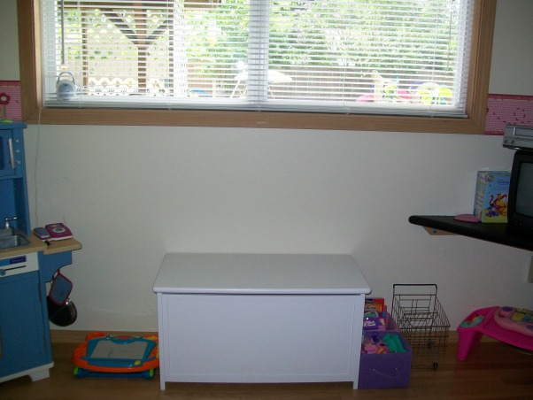 3 year old's room, butterflies, flowers, and all a 3 year old wants., toy box is used as a window bench, Girls' Rooms Design