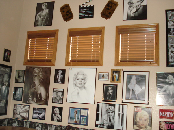 Pool table/game room, Made a formal living/dining room into a classy pool table/ game room.  We added our favorite hollywood memorabilia., Hollywood memorabilia, especially Marilyn Monroe. , Other Spaces Design