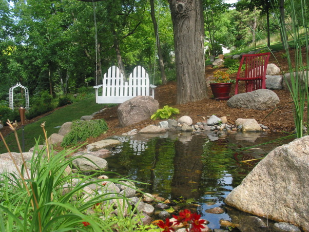 Pleasant view gardens, Waterfalls and ponds amongst the perennial gardens, Swing with me?                             , Gardens Design