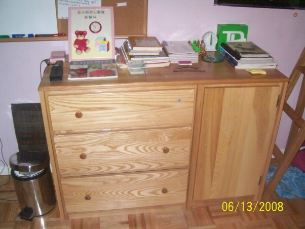 11 year old girl bedroom, my room is really small and we will never move so i am stuck with it i am really looking for help becuase i really dislike this room!, this is my drawer and i put some stuff on top of it just because it is extra space, Girls' Rooms Design