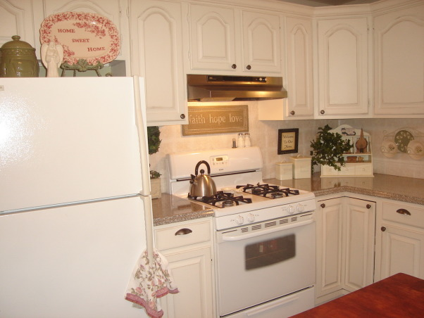 ~The Heart of our Home~, Our kitchen is adjoined to our livingroom.  We have done everything in here ourselves.  One word I understand is BUDGET!  , I know alot of people like the stainless appliances, but they are not for me.  Too hard to take care of., Kitchens Design
