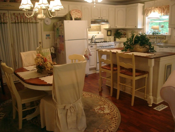 ~The Heart of our Home~, Our kitchen is adjoined to our livingroom.  We have done everything in here ourselves.  One word I understand is BUDGET!  , Don't look at the side of the fridge.  I said don't look! ;}, Kitchens Design