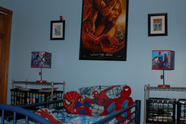 Spiderman Boys Bedroom, This is my 6 year old's Spiderman bedroom. , Boys' Rooms Design