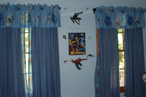 Spiderman Boys Bedroom, This is my 6 year old's Spiderman bedroom. , Spiderman drapes and valances., Boys' Rooms Design
