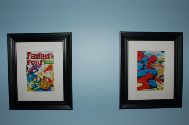 Spiderman Boys Bedroom, This is my 6 year old's Spiderman bedroom. , Comic book pages framed., Boys' Rooms Design