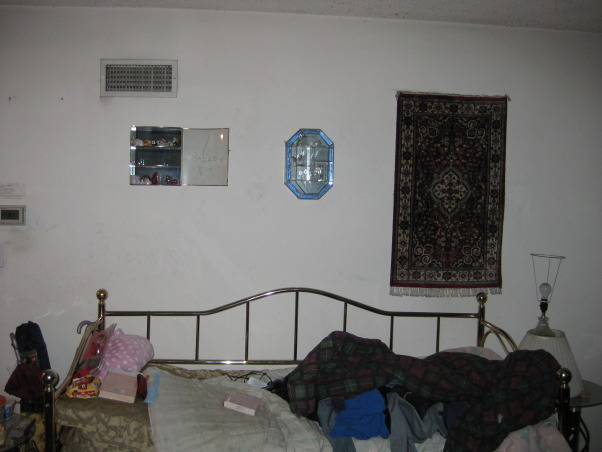 TV Area, We have a TV and our fireplace, We are keeping our cable box, dvd box, and tv on the floor., This is our day bed. It has a few decorations on top, but the wall is bare for the most part., Living Rooms Design