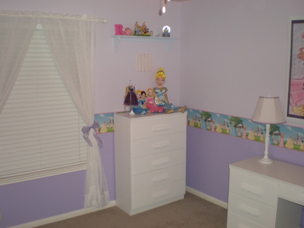 Princess Room, This is a Princess Room for our 4 year old daughter.  , dresser , Girls' Rooms Design
