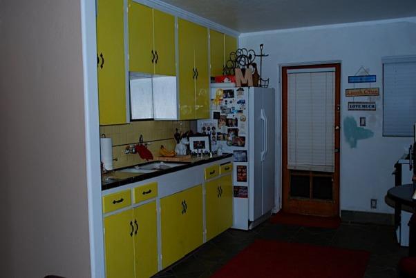 My 1950's Ranch-Style Kitchen Transformation, I transformed a 1950's ranch-style kitchen into a modern, functional kitchen., Before - Sink Side, Kitchens Design