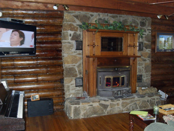 Small Dark Living Room???, We live in a beautiful log home with very large rooms with the exception of our living room...what to do?  It's dark, gloomy and we have absolutely no idea where to start but really do not want to compromise the integrity of our log home feel., Boring Living room fireplease , Living Rooms Design
