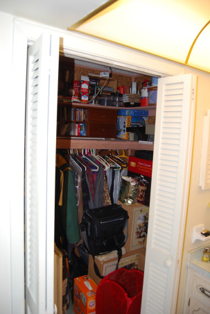 Closet size master bath, We have a bathroom that is the size of a closet. We cannot figure out what to do with it or how to make changes., This bathroom is to small for two grown men who have to share it along with no bath tub. We bought an older home and have done a great deal of work on it, but have not idea what to do with the closet bathroom. It has a walk in close that although we use it, can go, Please help us., Walk in closet inside of master bath, can do without, , Bathrooms Design