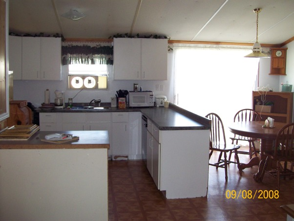 mobile home kitchen re-do, Kitchen is an older double wide (trailer) disaster...although we put a lot of hard work and love into it., It went from dirty, cheap and unfinished, although I seen that it needed some of my inspiration., Kitchens Design