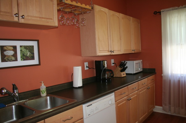 To paint or not to paint kitchen? What color?, Maple cabinets, slate