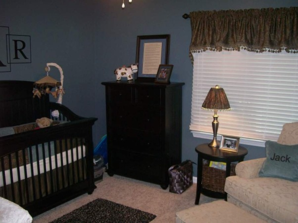 Baby Jack's room, This is the nursery for our first baby...a little boy due in August.  When we bought our home, this room was an awful neon pink with mauve carpet...here is the transformation to Jack's room today!, Nurseries Design
