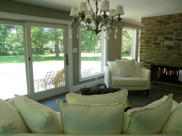 sit back and relax, This was a screened in porch that I turned into a sunroom.  It is great to watch the kids at the pool without having to go outside!, Living Rooms Design