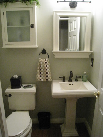 Small Half Bath, I took a few suggestions from some readers.  I wanted to paint the space, but have never gotten around to it.  It's grown on me!, Bathrooms Design