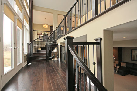 stairs and landing from our main level to our basement other spaces