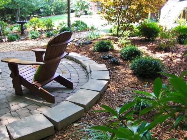 Patio in the Woods, This area finally looks complete! , Landscaping