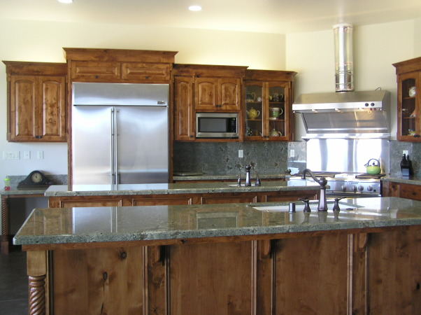 cabinets with and seafoam green granite counters , Kitchen , Kitchens