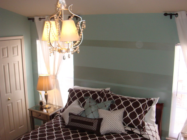 Tiffany Blue Room, The bedroom I created was for a fun and established woman that loves the Tiffany Blue color. We did the room on a very tight budget with lot of personal style and class. , Bedrooms Design