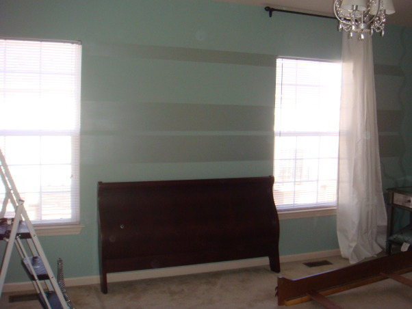 Tiffany Blue Room, The bedroom I created was for a fun and established woman that loves the Tiffany Blue color. We did the room on a very tight budget with lot of personal style and class. , in progress, Bedrooms Design