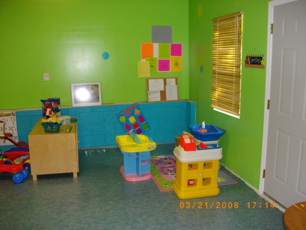From Garage to Daycare!!!, I turned my 2 car garage into a childcare center!! I really love it. Green is my favorite color, so I went with that and turquoise!, This is the finished product..Hoorah...I 'm so glad. , Garages Design