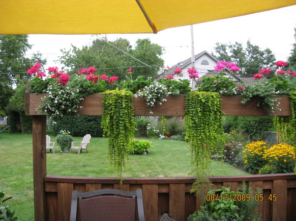 I LOVE FLOWERS!, Flower boxes around deck , Gardens Design