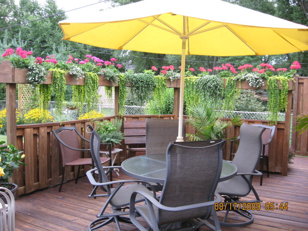 I LOVE FLOWERS!, Our deck , Gardens Design