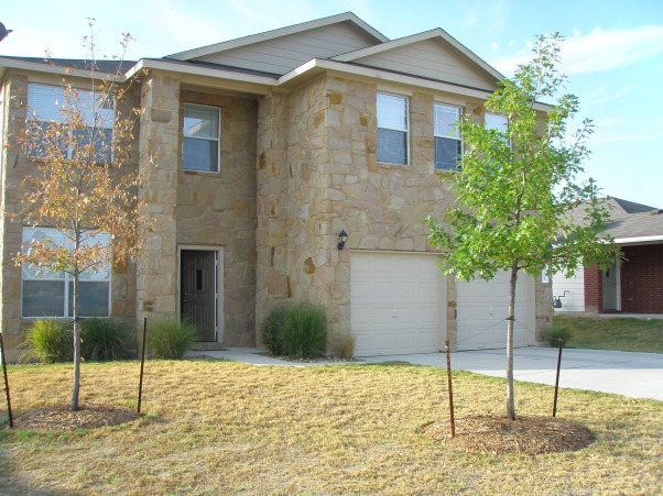 Stone Finish Exterior, Simple and Elegant, I know, poor grass, it's been record high heat temps. this month here in Texas. I'm watering every other night. Wish me luck. =)    , Home Exterior Design