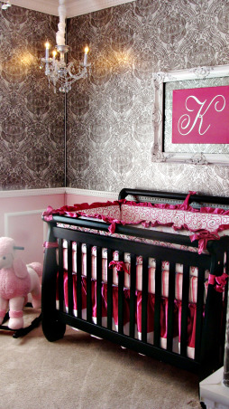 Kenadie's Nursery, I wanted to create a unique and elegant nursery for the new baby to enjoy., Nurseries Design