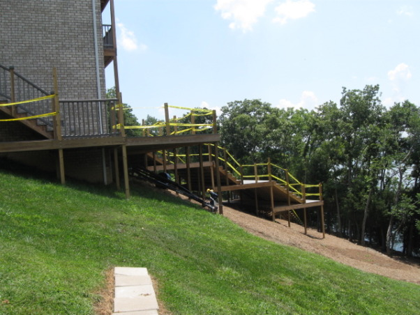 Deck Ideas For Steep Backyard : layers of deck on steep sloped yard, The back yard was so steep, the
